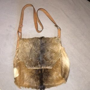 Zara fur Leather Crossbody